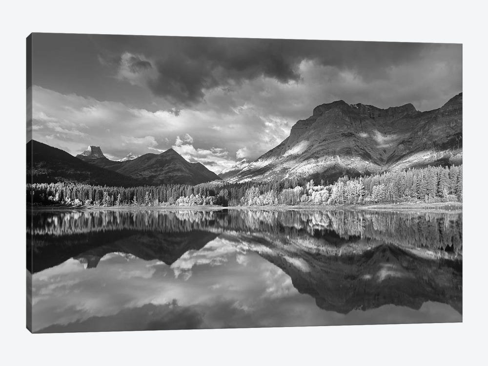 Fortress Mountain and Mt Kidd at Wedge Pond, Kananaskis Country, Alberta, Canada by Tim Fitzharris 1-piece Canvas Wall Art