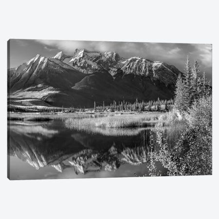Jacques Range and Cinquefoil Mountain from Talbot Lake, Jasper National Park, Alberta, Canada Canvas Print #TFI1644} by Tim Fitzharris Canvas Artwork