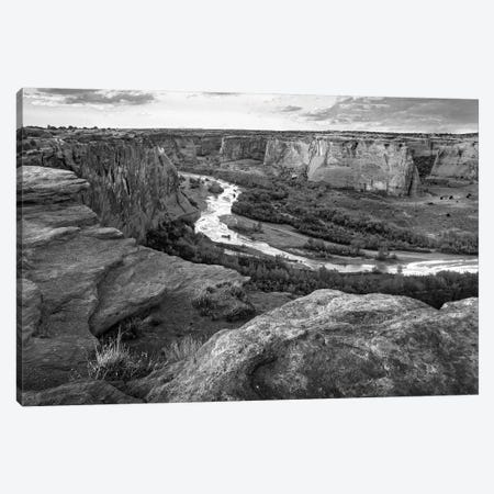 Junction Overlook, Chinle Wash, Canyon de Chelly National Monument, Arizona Canvas Print #TFI1646} by Tim Fitzharris Canvas Wall Art