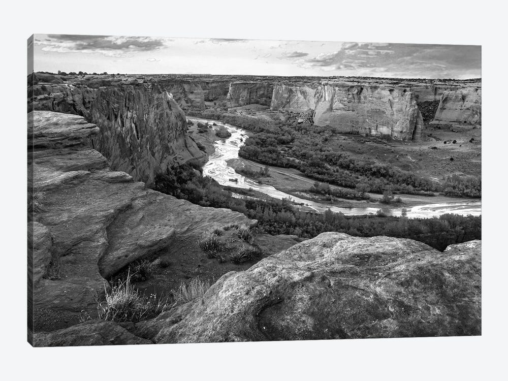 Junction Overlook, Chinle Wash, Canyon de Chelly National Monument, Arizona by Tim Fitzharris 1-piece Canvas Art Print