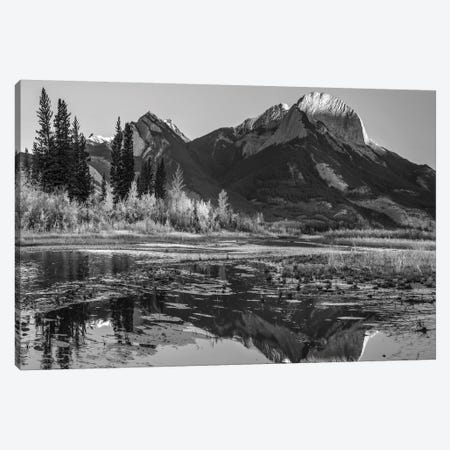 Mountain and river, Roche Ronde, Athabasca River, Jasper National Park, Alberta, Canada Canvas Print #TFI1679} by Tim Fitzharris Canvas Art
