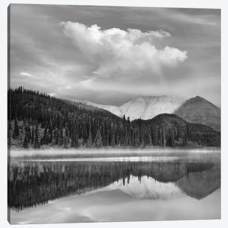 Mountain reflected in pond, Northern Rocky Mountain Provincial Park, British Columbia, Canada Canvas Print #TFI1684} by Tim Fitzharris Canvas Wall Art