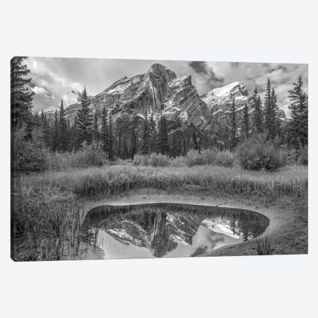Peak reflected in pond, Mount Kidd, Kananaskis Country, Alberta, Canada Canvas Print #TFI1715} by Tim Fitzharris Canvas Artwork