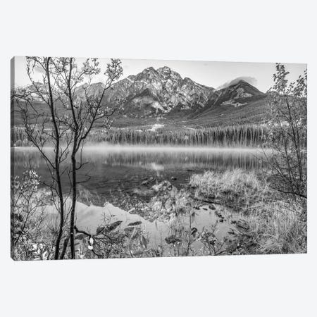 Pyramid Mountain from Pyramid Lake, Jasper National Park, Alberta, Canada Canvas Print #TFI1727} by Tim Fitzharris Art Print