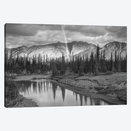 Rainbow over Fairholme Range and Exshaw Creek, Alberta, Canada Canvas Print #TFI1731} by Tim Fitzharris Canvas Print