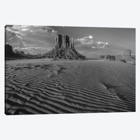 Sand dunes and the Mittens, Monument Valley Navajo Tribal Park, Arizona Canvas Print #TFI1760} by Tim Fitzharris Canvas Artwork