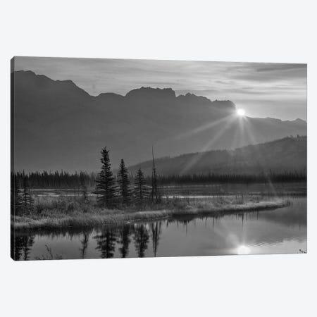 Sunset over Miette Range and Talbot Lake, Jasper National Park, Alberta, Canada Canvas Print #TFI1796} by Tim Fitzharris Canvas Artwork