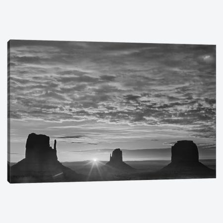The Mittens and Merrick Butte at sunrise, Monument Valley, Arizona Canvas Print #TFI1806} by Tim Fitzharris Canvas Art