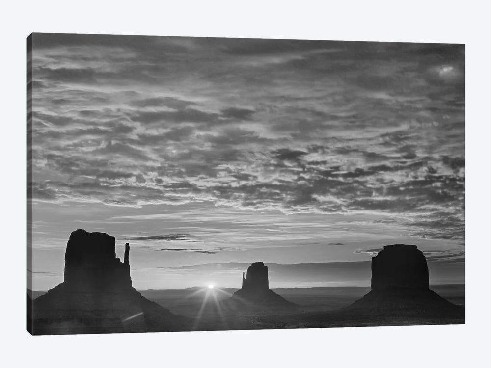 The Mittens and Merrick Butte at sunrise, Monument Valley, Arizona by Tim Fitzharris 1-piece Canvas Art