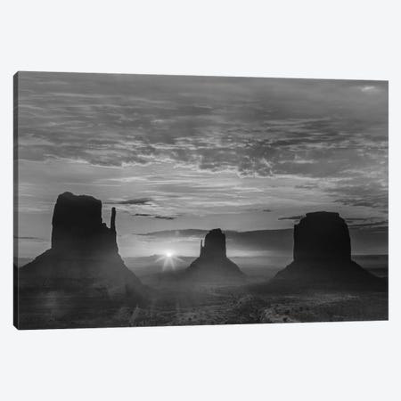The Mittens and Merrick Butte at sunrise, Monument Valley, Arizona Canvas Print #TFI1807} by Tim Fitzharris Canvas Wall Art