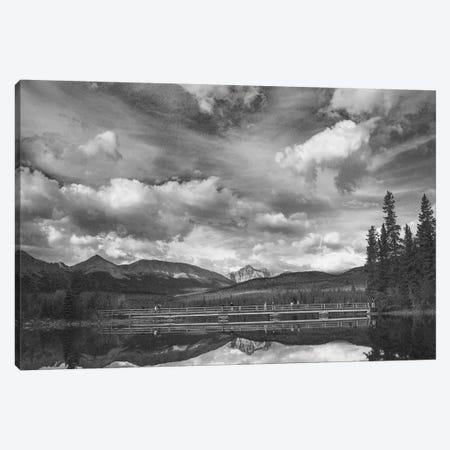 Trident Range and Pyramid Lake, Jasper National Park, Alberta, Canada Canvas Print #TFI1820} by Tim Fitzharris Canvas Art Print