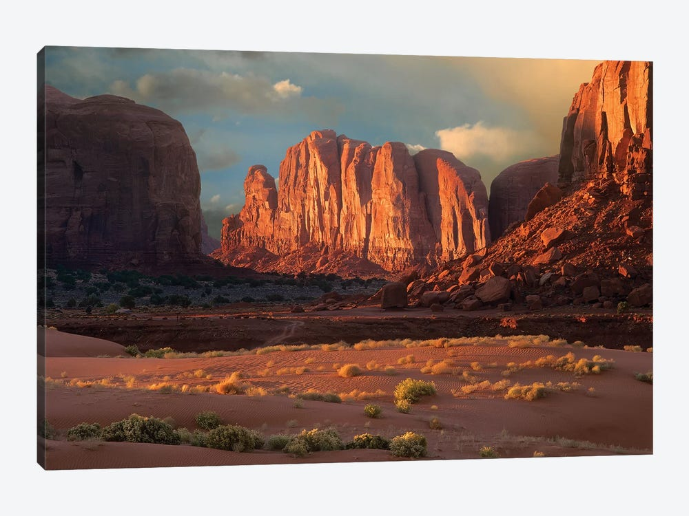 Camel Butte Rising From The Desert Floor, Monument Valley, Arizona by Tim Fitzharris 1-piece Canvas Print