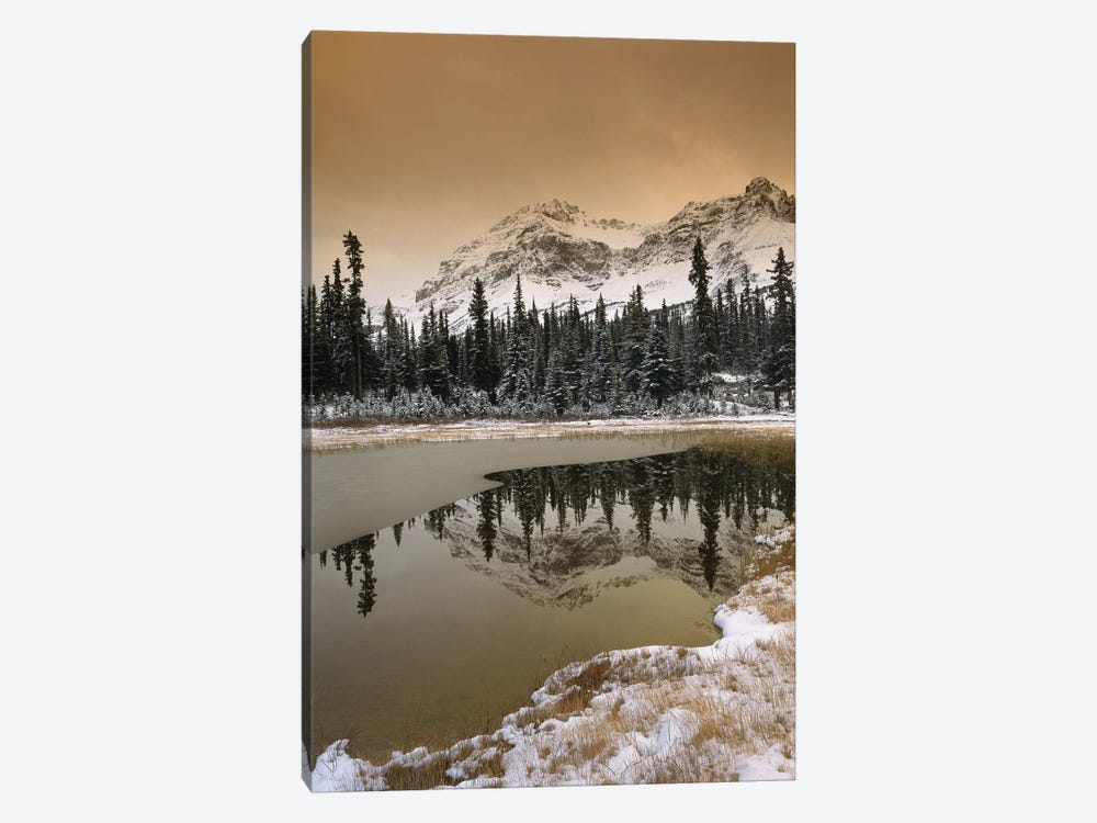Canadian Rocky Mountains Dusted In Snow, Banff National Park, Alberta, Canada by Tim Fitzharris 1-piece Canvas Art Print