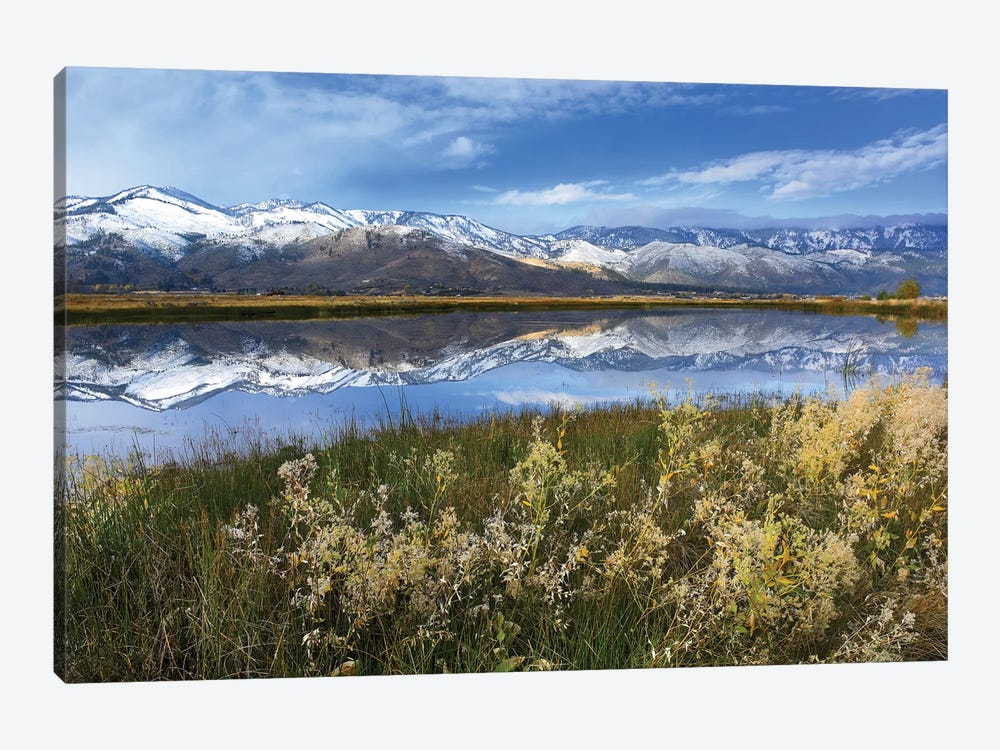 Carson Range Reflected In Washoe Lake, Nevada by Tim Fitzharris 1-piece Art Print