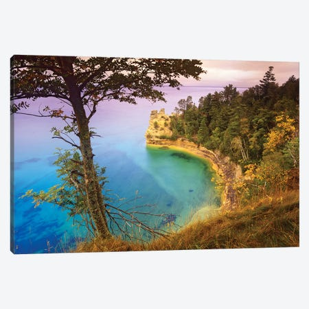 Castle Rock Overlooking Lake Superior, Pictured Rocks National Lakeshore, Michigan Canvas Print #TFI198} by Tim Fitzharris Canvas Wall Art