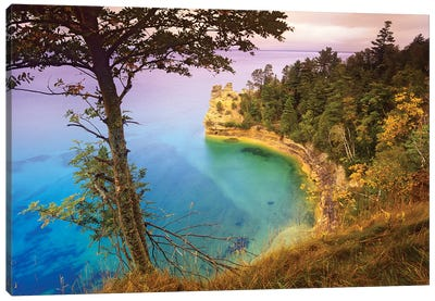 Castle Rock Overlooking Lake Superior, Pictured Rocks National Lakeshore, Michigan Canvas Art Print
