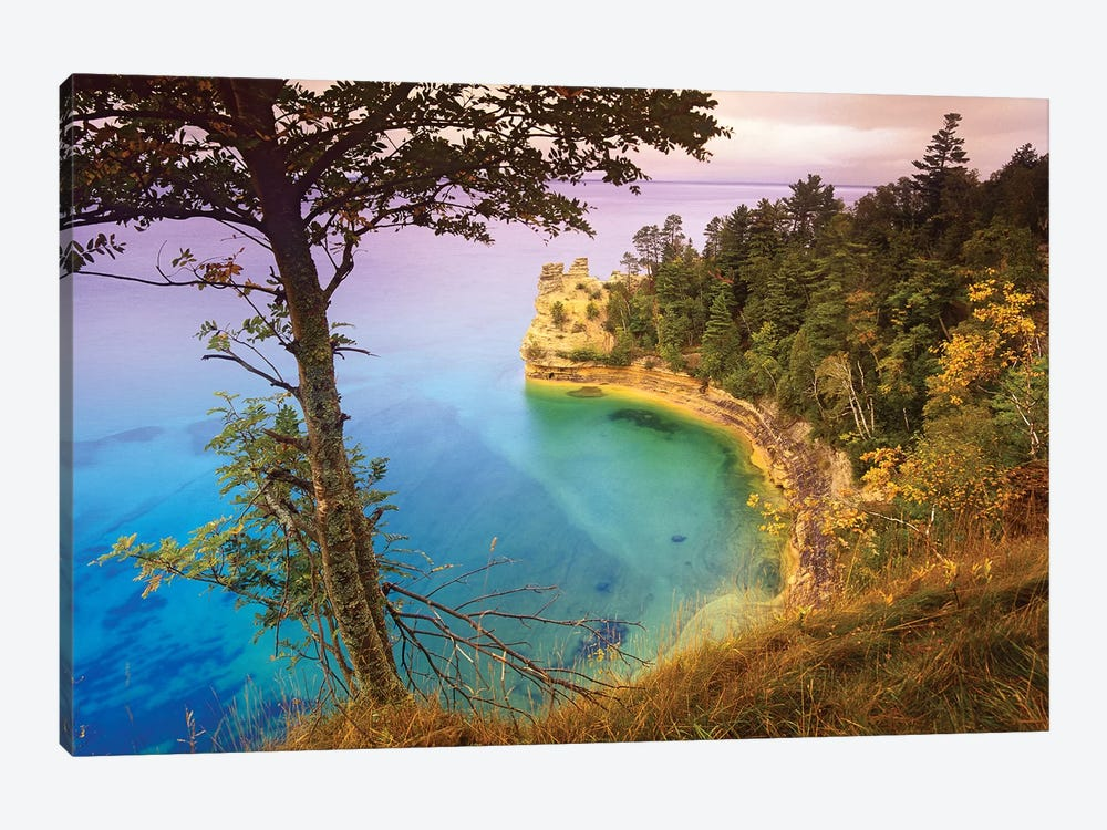 Castle Rock Overlooking Lake Superior, Pictured Rocks National Lakeshore, Michigan by Tim Fitzharris 1-piece Canvas Artwork