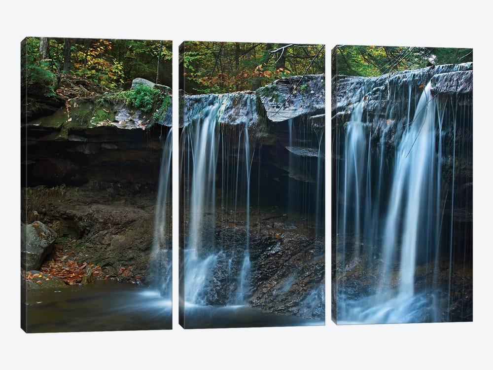 Cayuga Falls, Ricketts Glen State Park, Pennsylvania by Tim Fitzharris 3-piece Canvas Artwork