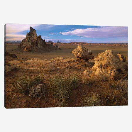 Church Rock, Eroded Volcanic Plug Reaching 300 Feet, Navajo Reservation, Monument Valley Navajo Tribal Park, Arizona 3-Piece Canvas #TFI212} by Tim Fitzharris Canvas Art Print