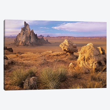 Church Rock, Monument Valley, Arizona 3-Piece Canvas #TFI213} by Tim Fitzharris Canvas Print