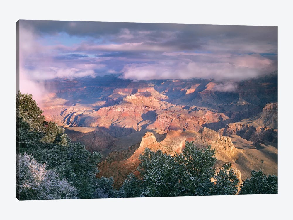Clearing Skies Over The South Rim, Grand Canyon National Park, Arizona by Tim Fitzharris 1-piece Canvas Art Print