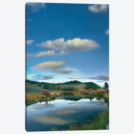 Clouds Reflected In River, Salmon River Valley, Idaho Canvas Print #TFI223} by Tim Fitzharris Canvas Art