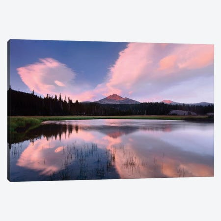 Clouds Reflected In Sparks Lake, Oregon Canvas Print #TFI224} by Tim Fitzharris Art Print