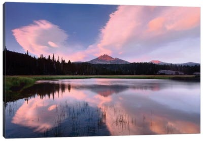 Clouds Reflected In Sparks Lake, Oregon Canvas Art Print