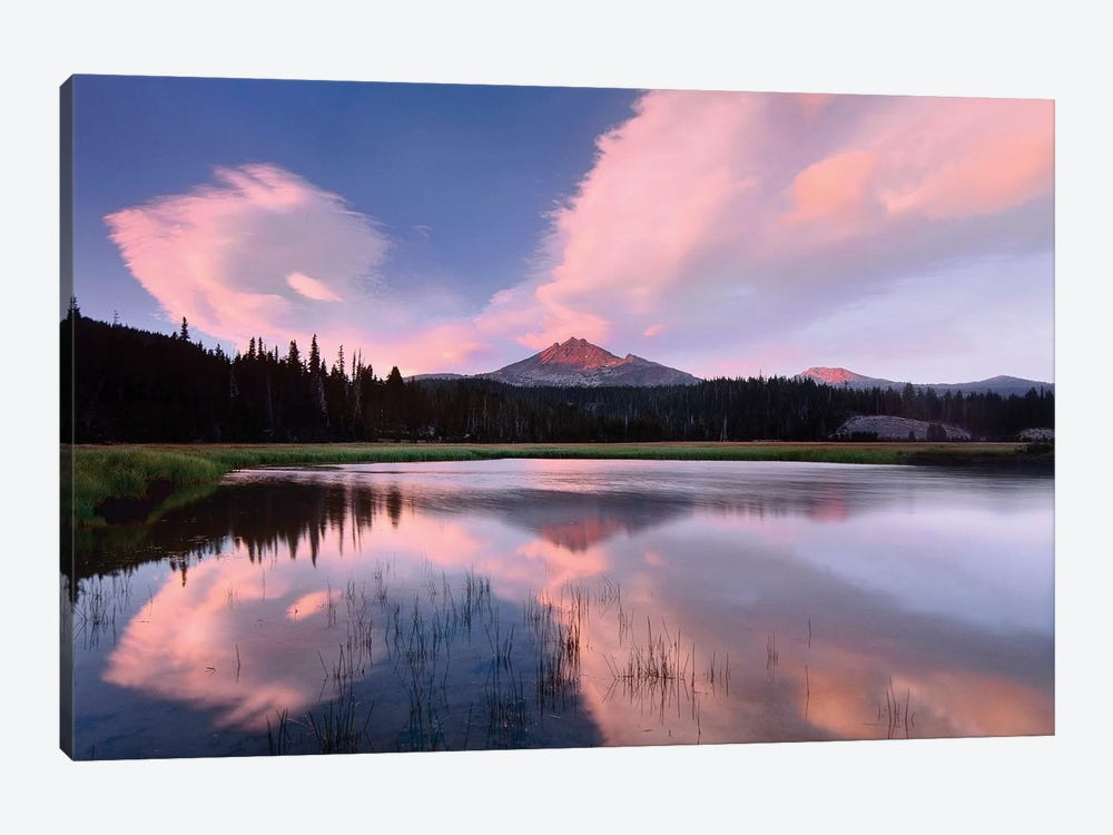 Clouds Reflected In Sparks Lake, Oregon by Tim Fitzharris 1-piece Canvas Print
