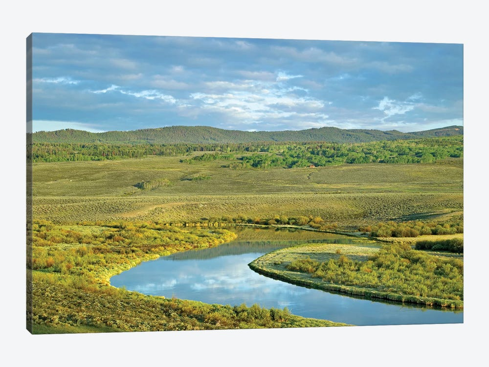 Cloudy Skies Over Green River, Bridger-Teton National Forest, Wyoming by Tim Fitzharris 1-piece Canvas Art Print