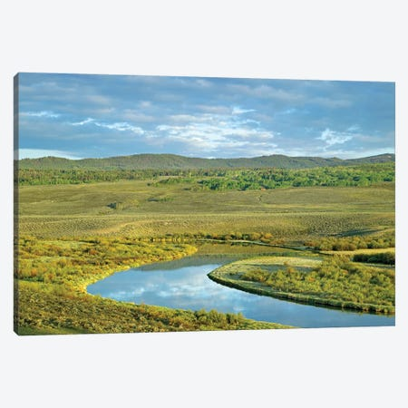 Cloudy Skies Over Green River, Bridger-Teton National Forest, Wyoming Canvas Print #TFI226} by Tim Fitzharris Canvas Print