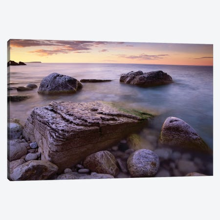 Coastal Rocks, Bruce Peninsula National Park, Ontario, Canada Canvas Print #TFI232} by Tim Fitzharris Art Print