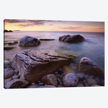 Coastal Rocks, Bruce Peninsula National Park, Ontario, Canada Canvas Print #TFI232} by Tim Fitzharris Art Print