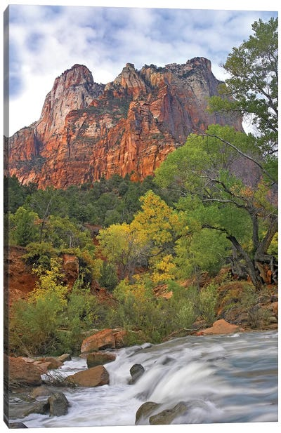 Court Of The Patriarchs, Zion National Park, Utah Canvas Art Print