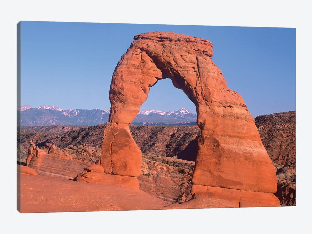 Delicate Arch And La Sal Mountains, Arches National Park, Utah I by Tim Fitzharris 1-piece Art Print
