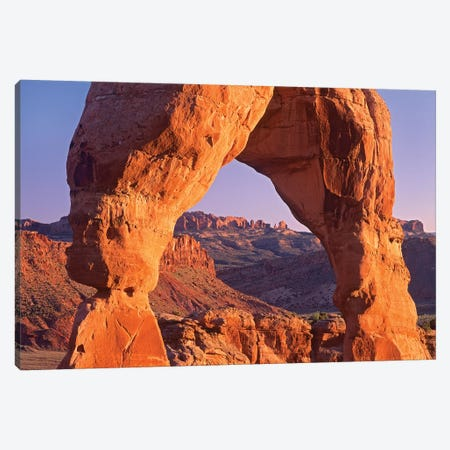 Delicate Arch And La Sal Mountains, Arches National Park, Utah II Canvas Print #TFI298} by Tim Fitzharris Canvas Art Print