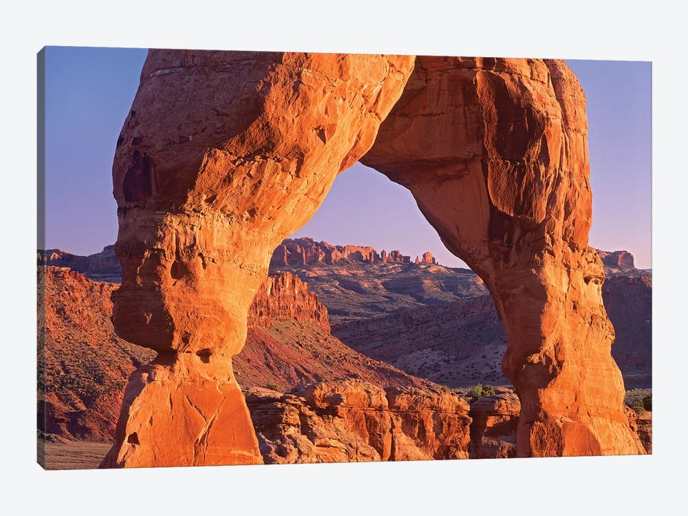 Delicate Arch And La Sal Mountains, Arches National Park, Utah II by Tim Fitzharris 1-piece Canvas Wall Art