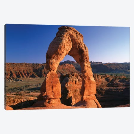 Delicate Arch In Arches National Park, Utah I Canvas Print #TFI299} by Tim Fitzharris Canvas Print