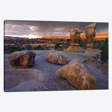 Devil's Garden Sandstone Formations, Escalante National Monument, Utah 3-Piece Canvas #TFI306} by Tim Fitzharris Canvas Artwork