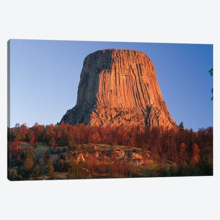 Devil's Tower National Monument Showing Famous Basalt Tower, Sacred Site For Native Americans, Wyoming II Canvas Print #TFI308} by Tim Fitzharris Art Print