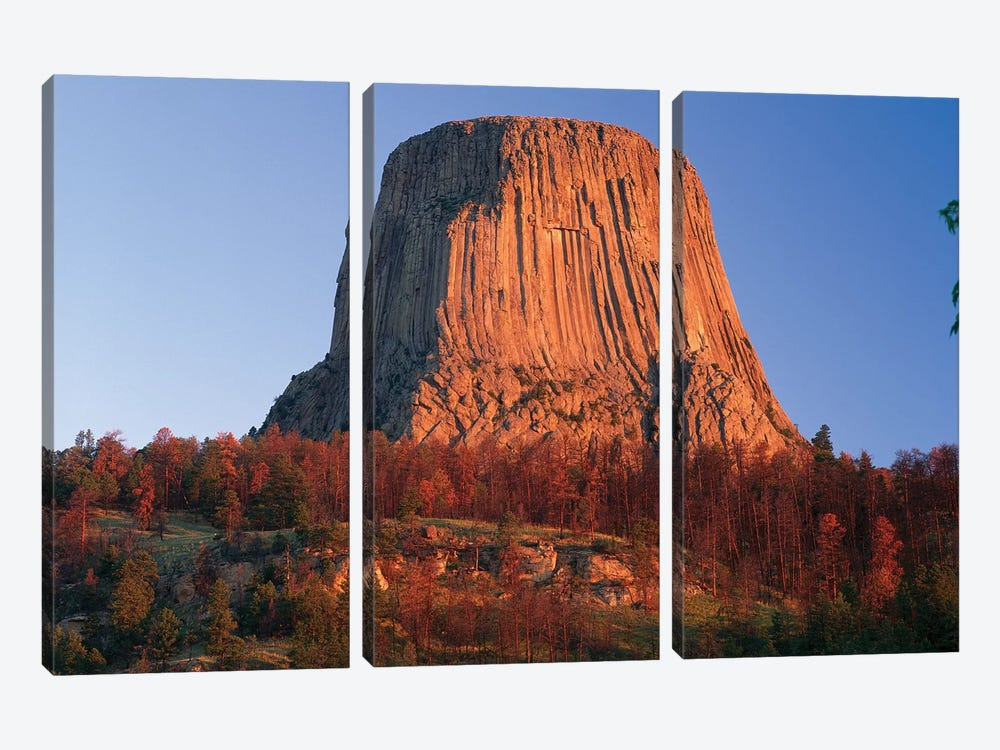 Devil's Tower National Monument Showing Famous Basalt Tower, Sacred Site For Native Americans, Wyoming II by Tim Fitzharris 3-piece Canvas Art