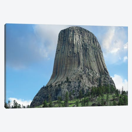 Devil's Tower National Monument Showing Famous Basalt Tower, Sacred Site For Native Americans, Wyoming III Canvas Print #TFI309} by Tim Fitzharris Canvas Art Print