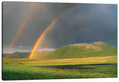 Double Rainbow Over Boulder Mountains After A Storm, Idaho Canvas Art Print