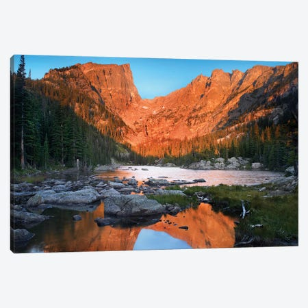 Dream Lake, Rocky Mountain National Park, Colorado Canvas Print #TFI314} by Tim Fitzharris Canvas Print