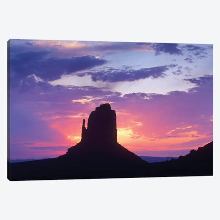 East And West Mittens, Buttes At Sunrise, Monument Valley, Arizona Canvas Print #TFI323} by Tim Fitzharris Art Print