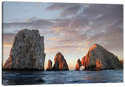 El Arco And Sea Stacks, Cabo San Lucas, Mexico I Canvas Art Print