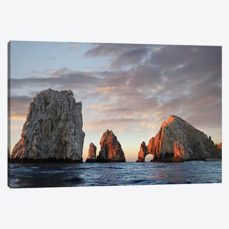 El Arco And Sea Stacks, Cabo San Lucas, Mexico I 3-Piece Canvas #TFI329} by Tim Fitzharris Art Print