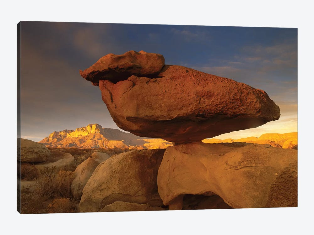 El Capitan And Balanced Rock, Guadalupe Mountains National Park, Texas I by Tim Fitzharris 1-piece Canvas Artwork