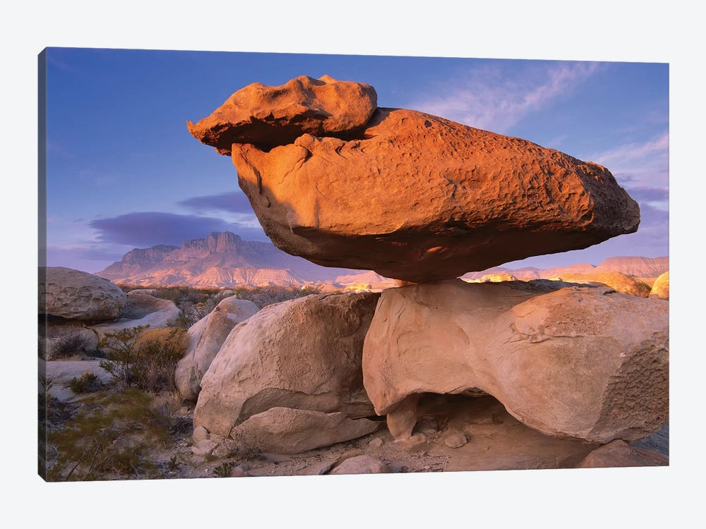 El Capitan And Balanced Rock, Guadalupe Mountains National Park, Texas II by Tim Fitzharris 1-piece Canvas Art Print