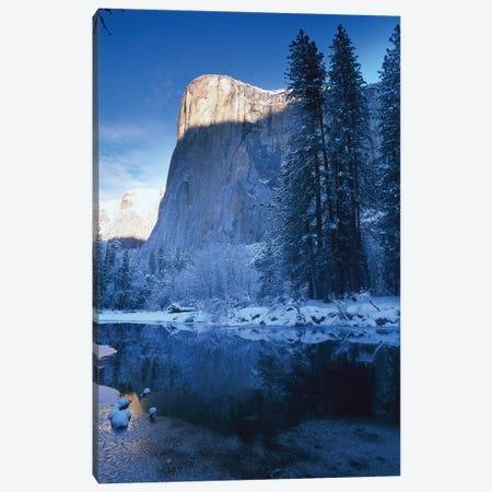 El Capitan And Merced River In Winter, Yosemite National Park, California Canvas Print #TFI333} by Tim Fitzharris Canvas Artwork
